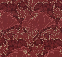 Wallpaper - Berlin red/gold - old fashioned style - vintage interior - retro - classic style