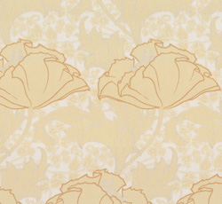 Wallpaper - Berlin yellow/glimmer - old fashioned style - vintage interior - retro - classic style