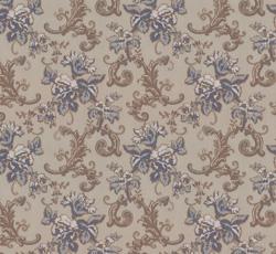Wallpaper - Hovdala blomma grey/pale blue