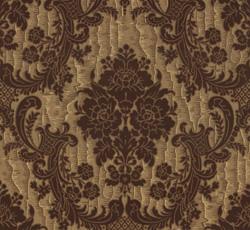 Lim & Handtryck Tapet - Förde brun/guld