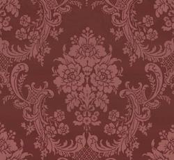 Lim & Handtryck Tapet - Förde röd/glimmer