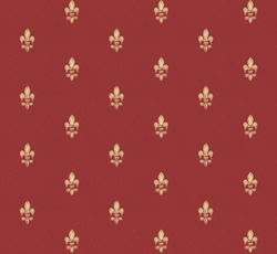 Wallpaper - Fransk lilja red/gold