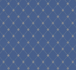 Wallpaper - Filipsborg blue/gold