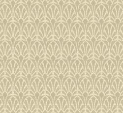 Lim & Handtryck Tapet - Jugend vit/grå - sekelskifte - gammaldags stil - klassisk inredning - retro