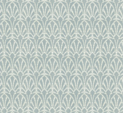 Wallpaper - Jugend white/pale blue - old style - vintage style - classic interior - retro