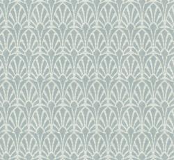 Lim & Handtryck Tapet - Jugend vit/ljusblå - sekelskifte - gammaldags stil - klassisk inredning - retro