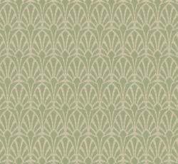 Lim & Handtryck Tapet - Jugend vit/grön - sekelskifte - gammaldags stil - klassisk inredning - retro