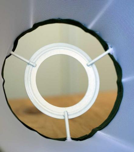 Fabric Shade 30 (Pleated / White / Ring)
