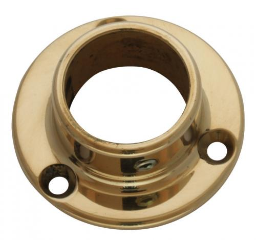 Tube holder brass 25 mm - Wall mount