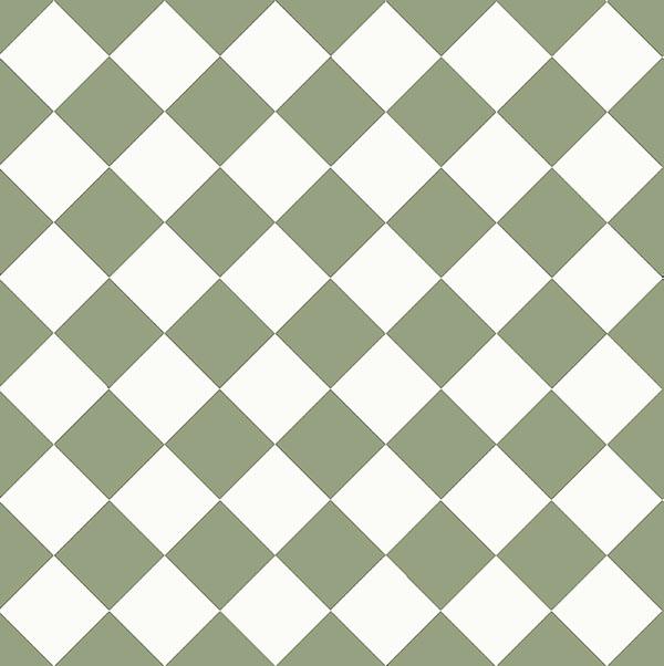 Floor tiles - 10 x 10 cm green/white