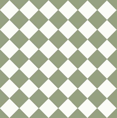 Floor tiles - 10 x 10 cm green/white
