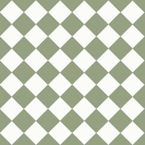 Granitklinker - Schackrutigt 10 x 10 cm ljusgrön/vit