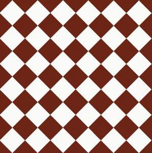 Floor tiles - 10 x 10 cm red/white