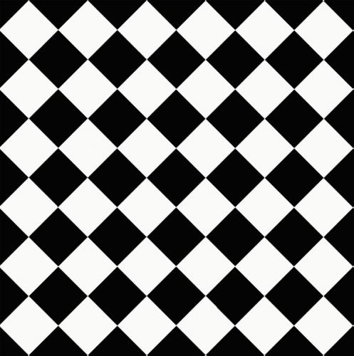 Floor tiles - 10 x 10 cm black/white