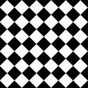 Floor tiles - 10 x 10 cm black/white