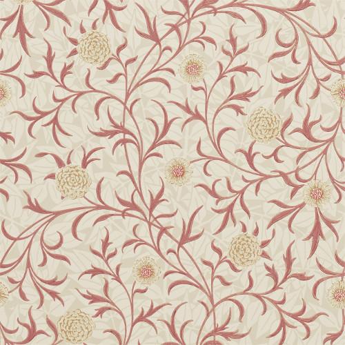 William Morris & Co. Wallpaper - Scroll Light Brick/Buff