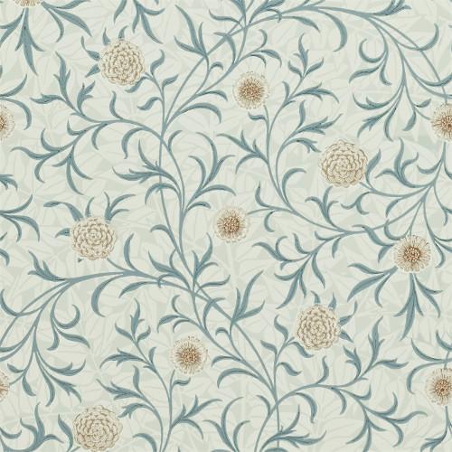 William Morris & Co. Wallpaper - Scroll Loden/Slate