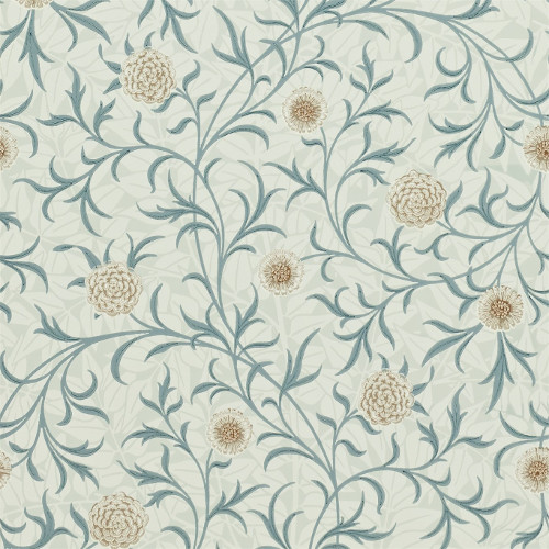 William Morris & Co. Wallpaper - Scroll Loden/Slate