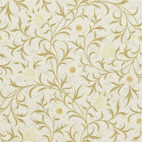 William Morris & Co. Wallpaper - Scroll Vellum/Biscuit