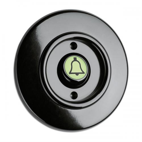 Switch round bakelite - Rocker glow-in-the-dark button door bell