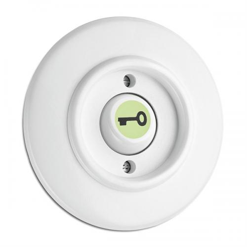 Switch round duroplast - Rocker glow-in-the-dark button key symbol
