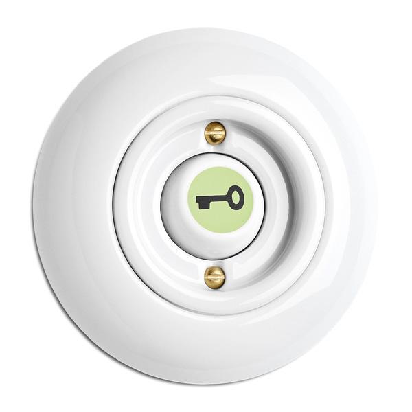 Switch round porcelain - Rocker glow-in-the-dark button key symbol