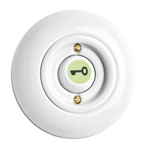 Switch round porcelain - Rocker glow-in-the-dark button key symbol