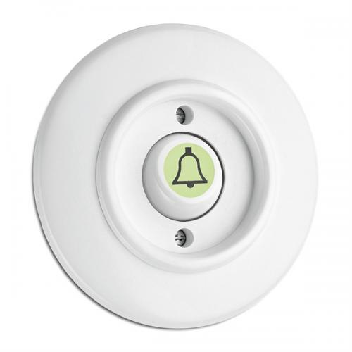 Switch round duroplast - Rocker glow-in-the-dark button door bell