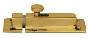 Slide latch - Springy fastener, brass