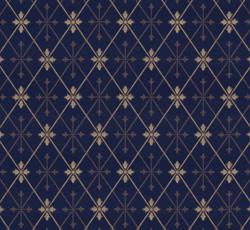 Wallpaper - Skogshyddan dark blue/gold