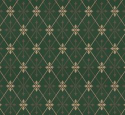 Wallpaper - Skogshyddan dark green/gold