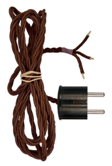 Sladdställ till väggfäste med dragbrytare (Brun/2m)