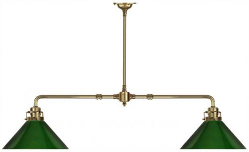 Lamp - Game table lamp straight green shades
