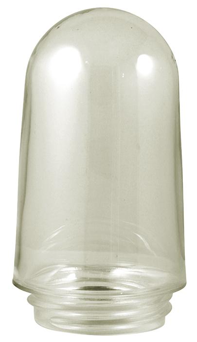 Stallkuppel til stallampe - Klart glass med pakning