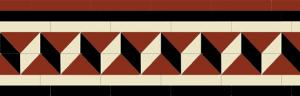 Tile border - Winckelmans Bristol 225 mm black/white/red