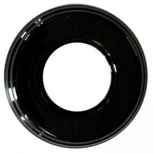 Ram svart porslin - 1 hål Garby Colonial