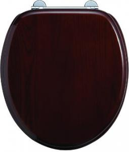 Soft close toilet seat - Burlington, mahogany