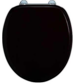 Soft close toilet seat - Burlington, black