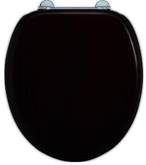 Omtalade Mjukstängande toalettsits från Burlington - svart - Sekelskifte LQ-34