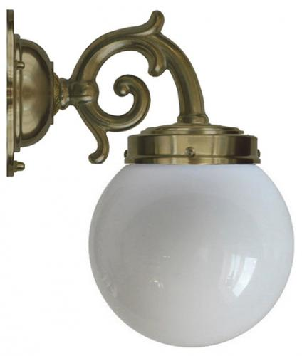 Bathroom Wall Lamp - Topelius antique brass, globe