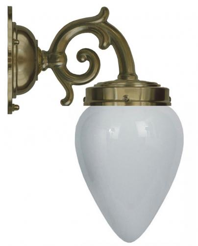 Bathroom Lamp - Topelius antique opal white drop