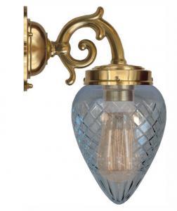 Baderomslampe - Topelius klarglass dråpe