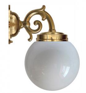 Baderomslampe - Topelius opal hvitt globelampe