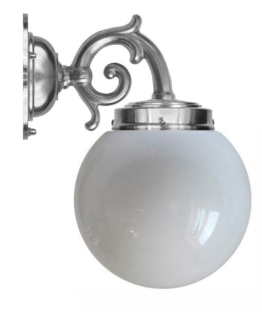 Bathroom Wall Lamp - Topelius Nickel Globe