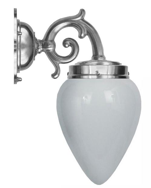 Baderomslampe - Topelius forniklet opalvhitt dråpe
