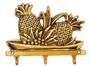 Triple hook brass - Pineapple