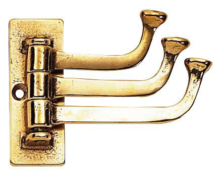 Triple hook rotable - Saltsjöbaden brass