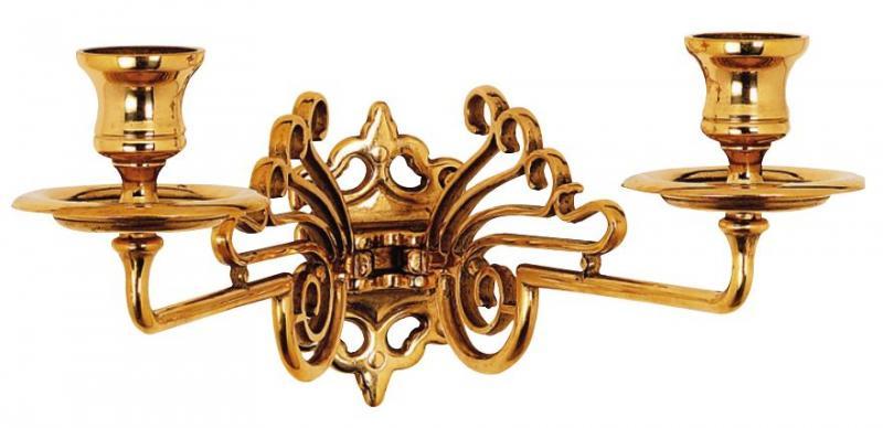 Twoarmed wall sconce - Art Nouveau, brass