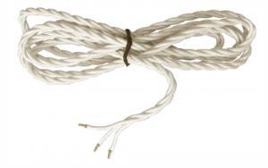Textilsladd - Kritvit tvinnad treledare