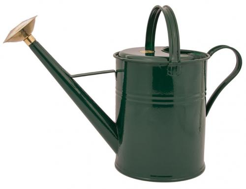 Watering can - Haws green 9 L - old fashioned style - vintage interior - retro